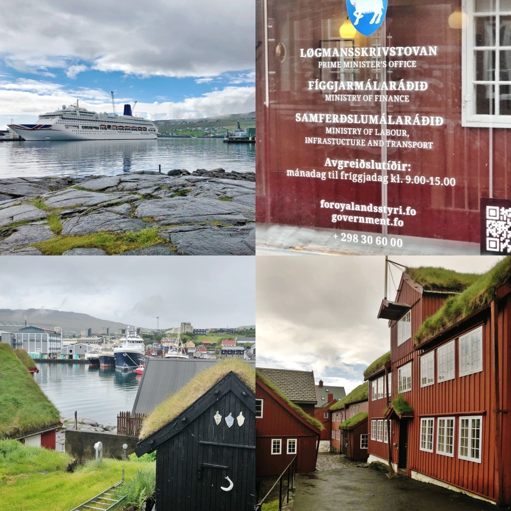 Clockwise from top left. 1. Oriana from the Tinganes peninsular 2. The Prime Ministers Office 3. Government buildings in Tinganes. 4. A harbour view in Torshavn 📷 by Nocruisecontrol