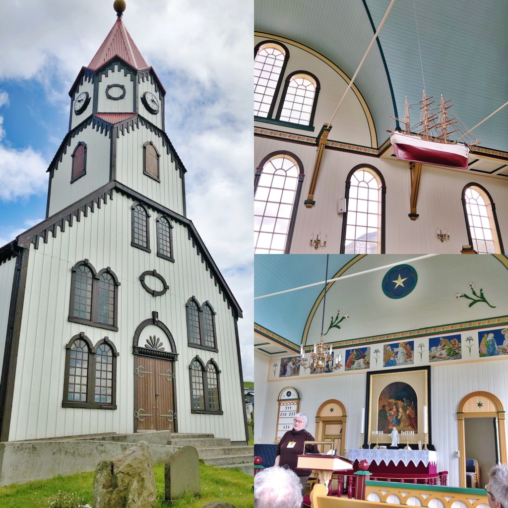 A selection of photographs taken in and around the Sandavágur Church 📷 by Nocruisecontrol